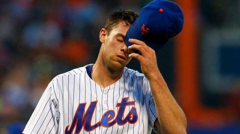 Steven Matz of the Mets walks to the