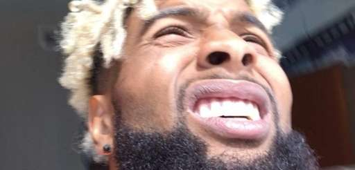 Giants wideout Odell Beckham takes in the solar