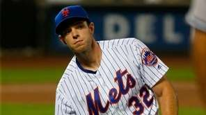 Steven Matz of the New York Mets reacts