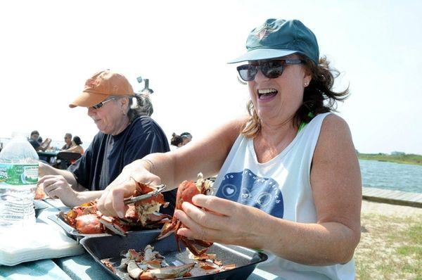 Kathy Pascale, of Mastic Beach, enjoys preparing a