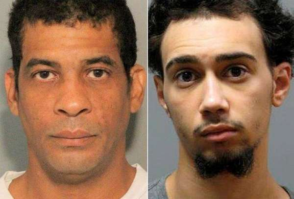Patrick White, 39, left, and Christian Dowd, 20,