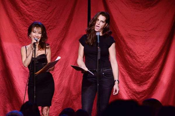 Susan Lucci, left, and Brooke Shields read in