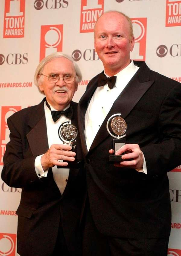 Thomas Meehan, left, and Mark O'Donnell show off