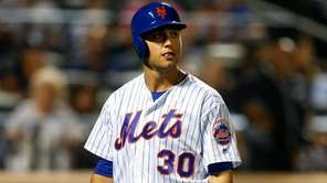 Michael Conforto strikes out against the Yankees at