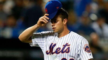 Steven Matz of the New York Mets walks