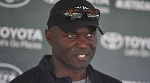Todd Bowles speaks with the media at the Atlantic