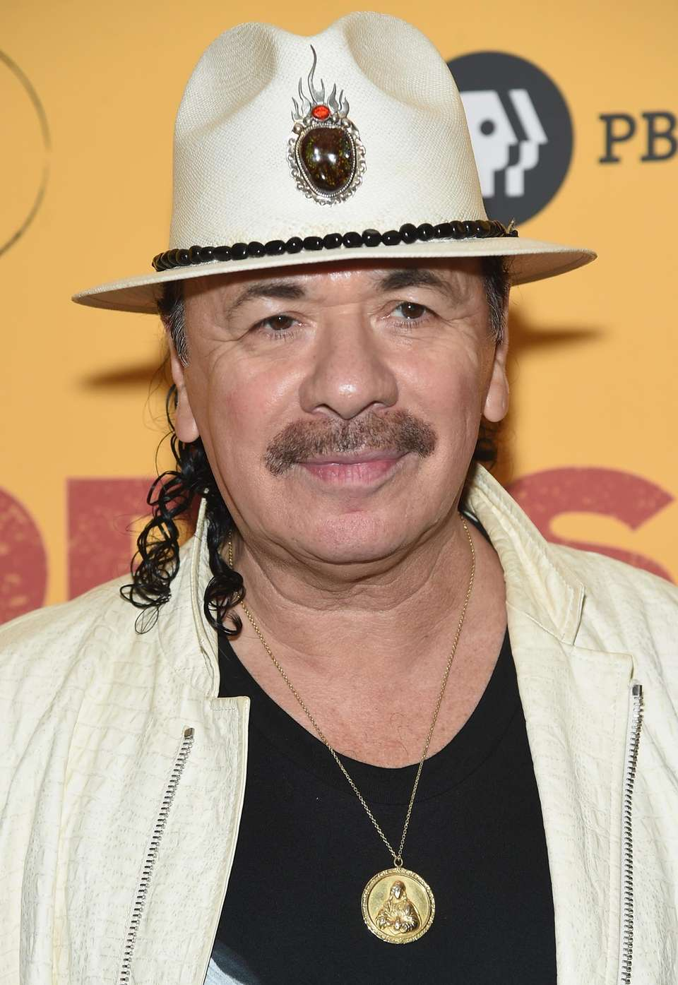 Carlos Santana attends the New York premiere of