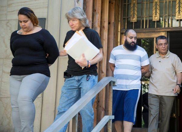 Diana Rodriguez, far left, and Steven Rivera, second
