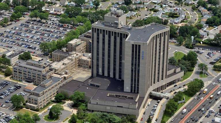 This aerial view shows the Nassau University Medical