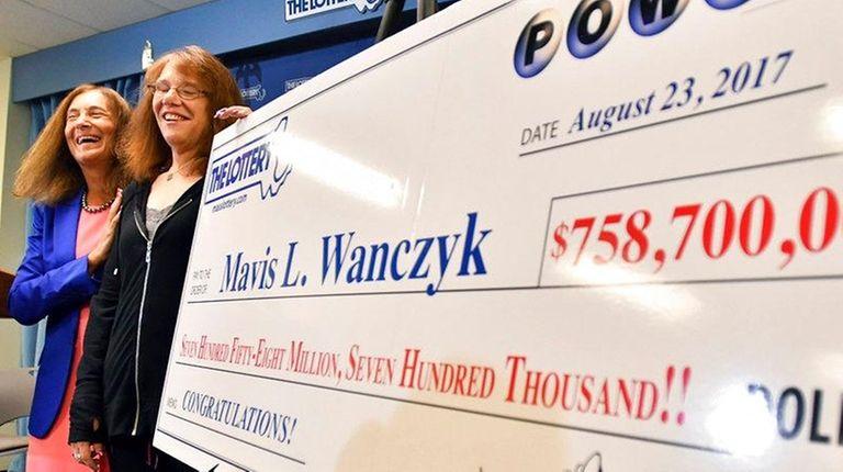 Mavis Wanczyk, of Chicopee, Mass., stands by a