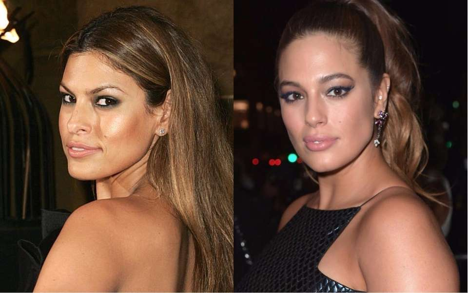 Actress Eva Mendes, left, and supermodel Ashley Graham.