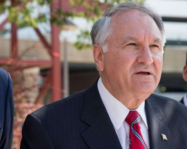 Nassau Comptroller George Maragos during a press conference