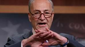 Senate Minority Leader Chuck Schumer is seen on
