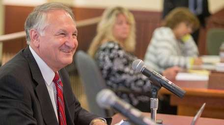Nassau County Comptroller George Maragos offers testimony to