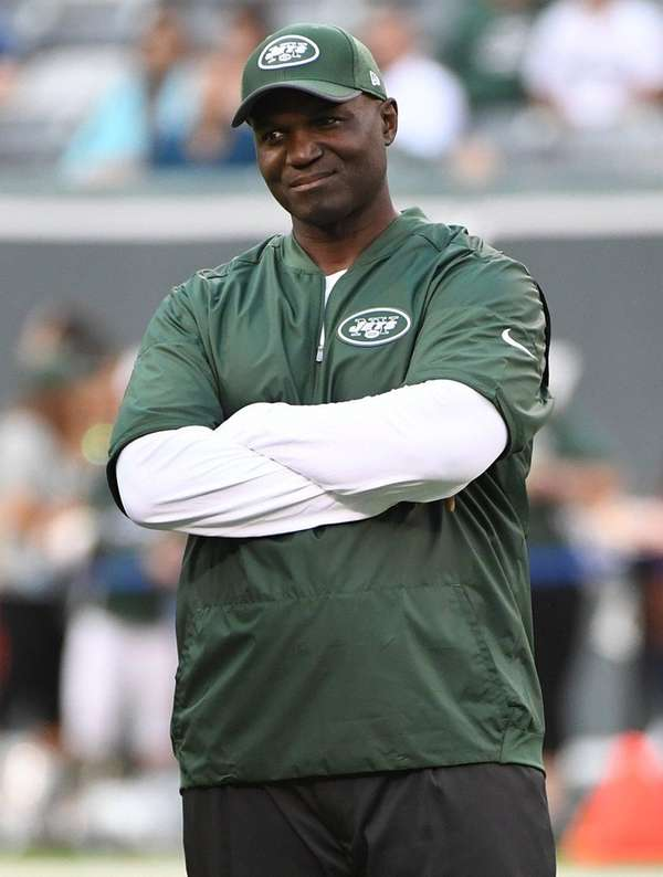 Jets head coach Todd Bowles looks on from