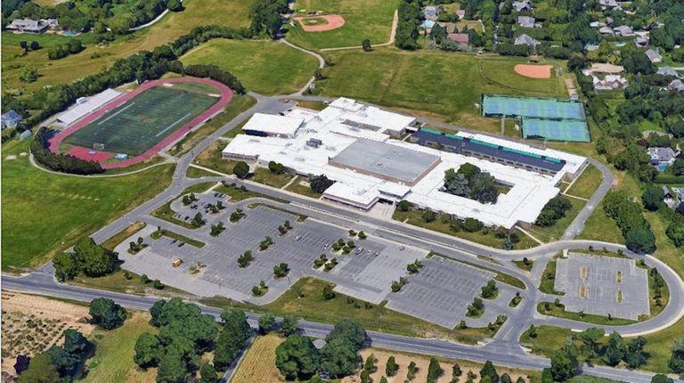 Google Earth view of East Hampton High School.