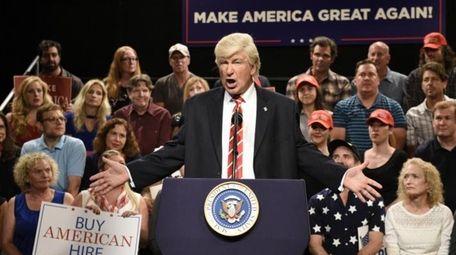 Alec Baldwin appears as President Donald Trump on