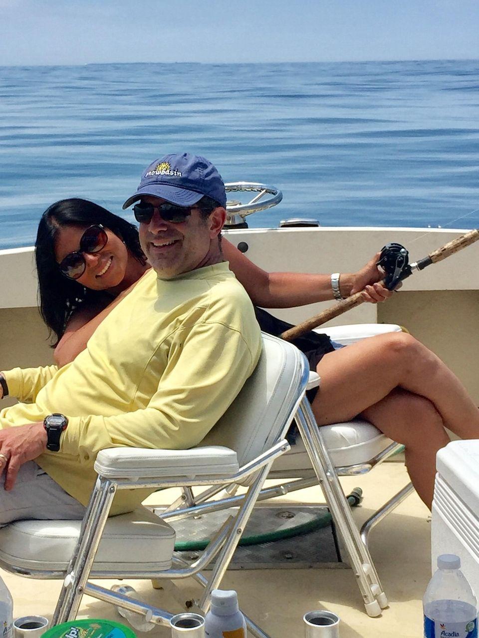 Doug & Diana Toback fishing on their family