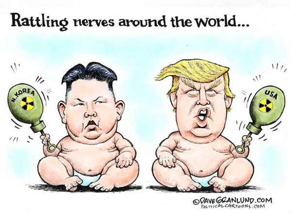 An editorial cartoon by Dave Granlund portraying Donald