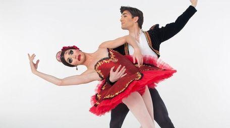 The all-male comedy troupe Les Ballets Trockadero de