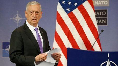 Secretary of Defense Jim Mattis, a retired general,
