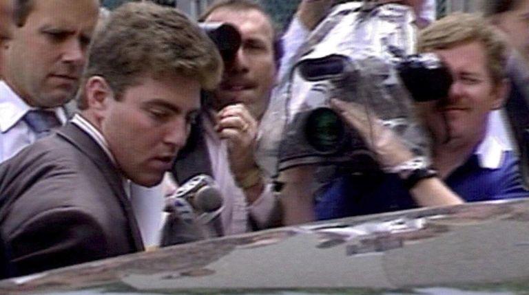 Shannon Siegel is seen outside of court in