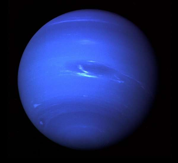 This image of Neptune was produced from Voyager