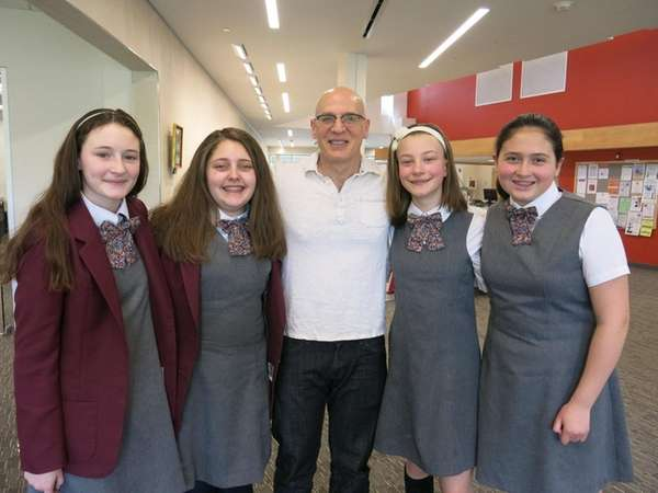 Long Island author Gordon Korman at the Great
