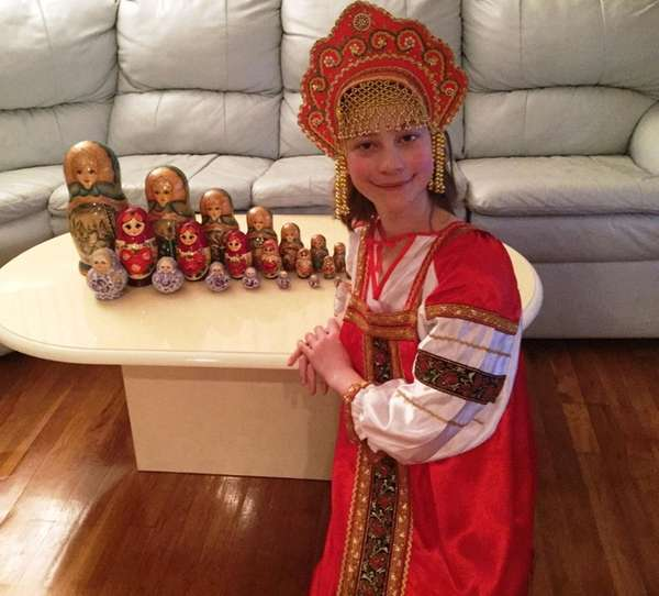 Kidsday reporter Emily Carroll in a traditional costume