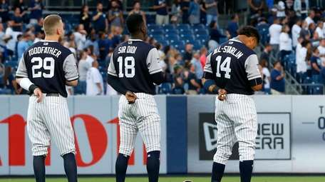 Todd Frazier, Didi Gregorius and Starlin Castro of