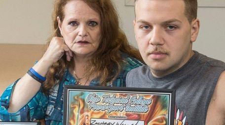 Nancy Wallmuller, of Oceanside, and her son Zachary,