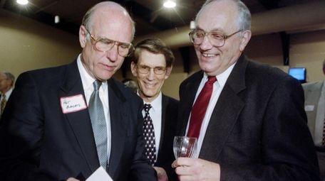 Lew Ferguson, right, talks with Sen. Pat Roberts