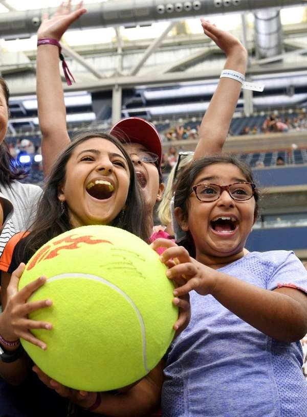 Serena Sharna, 10, left, and her sister, Riya,