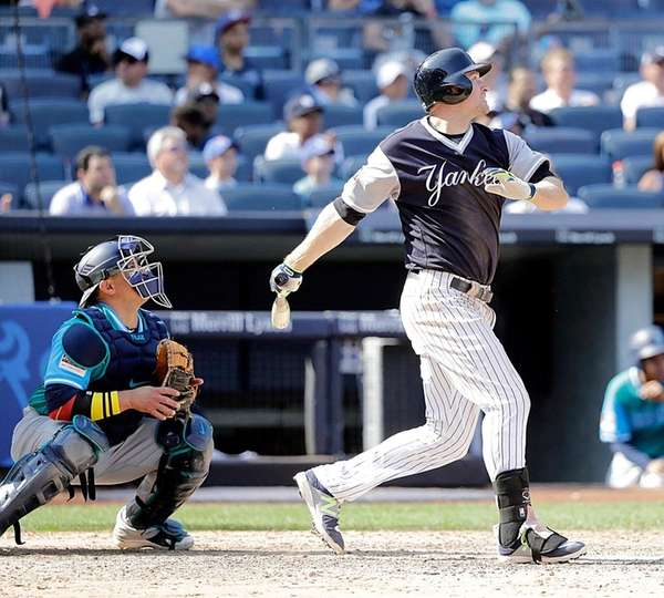Chase Headley flies out in his only official