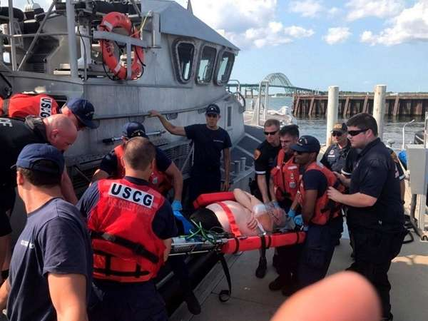 A Coast Guard boat crew from Station Fire