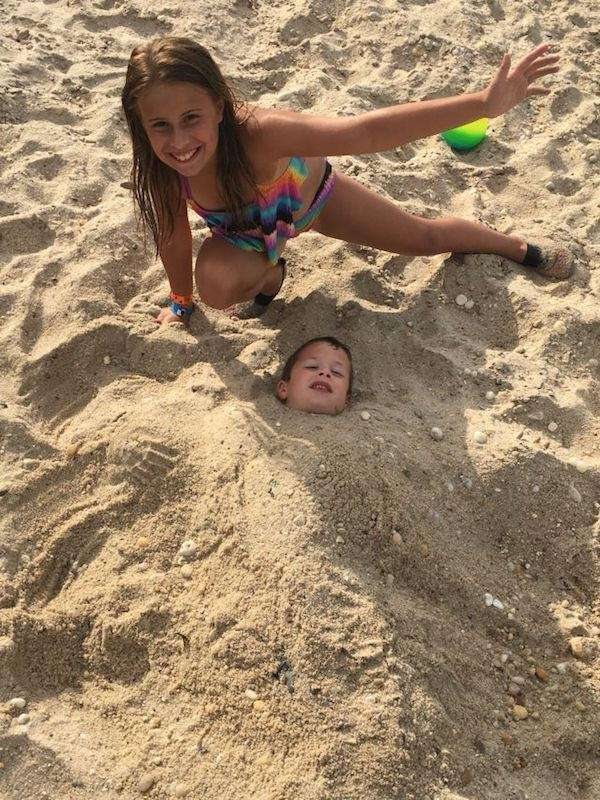 Marisa buried brother Johnny in sand at peconic