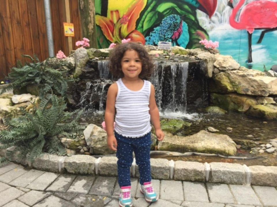 My niece Savannah at the White Post Farm