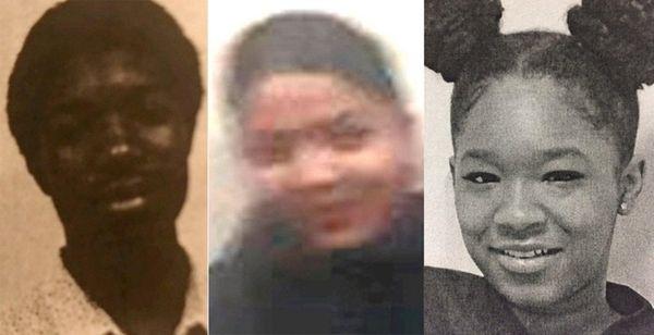 Quamell Epps-Jones, 14, left, Erica Rosado, 15, and