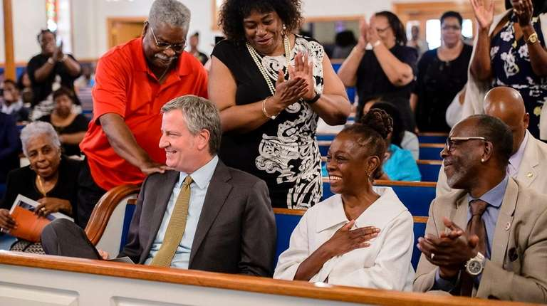Mayor Bill de Blasio and his wife, Chirlane