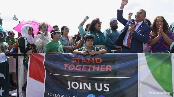 Hundreds of Pakistani-Americans gathered Sunday, Aug. 27, 2017,