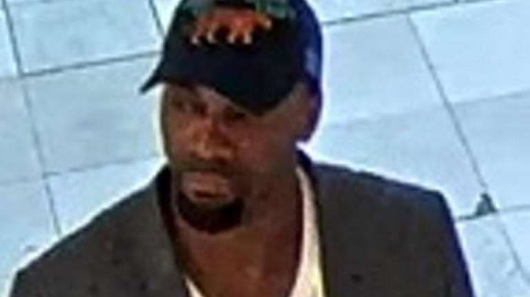 Surveillance footage shows a man Suffolk County police