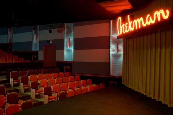 The upstairs theater at the newly restored Greenport