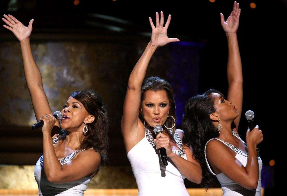 Host Vanessa Williams, center, performs during the 36th