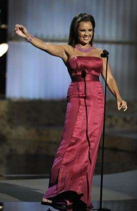 Host Vanessa Williams is seen on stage at