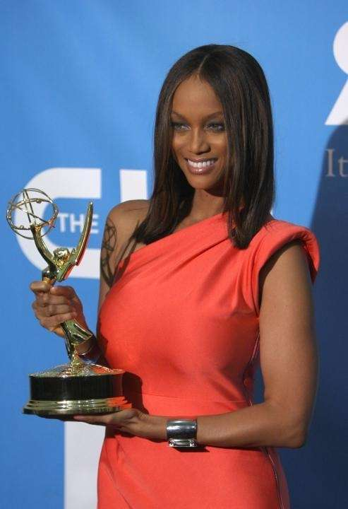 TV persoanlity Tyra Banks, winner of the Emmy