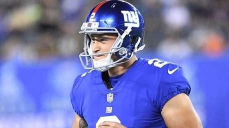 New York Giants kicker Aldrick Rosas in a