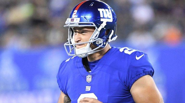 New York Giants kicker Aldrick Rosas in a