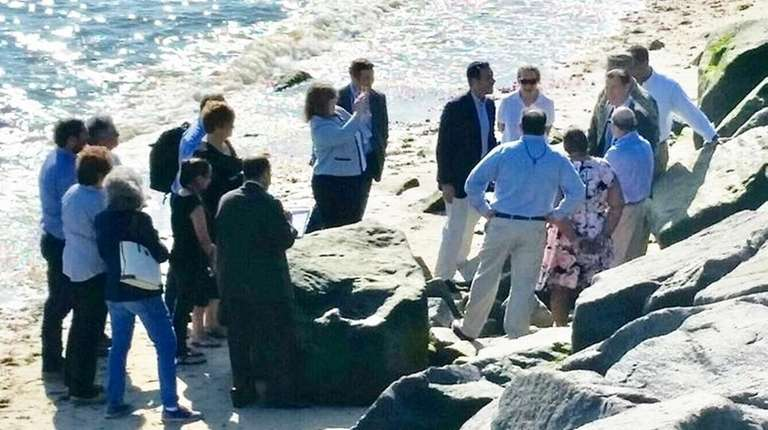 Local, state and federal officials met at Asharoken