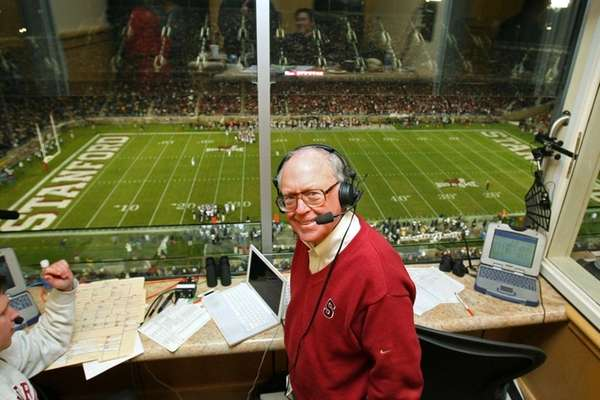 Sports broadcaster Bob Murphy poses during Stanford's football