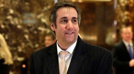 Donald Trump attorney Michael Cohen, seen in December